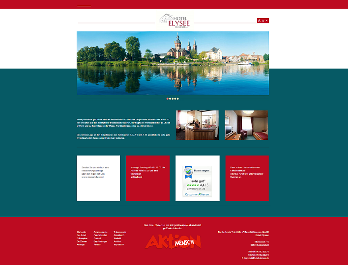Screenshot Website Hotel-Elysee